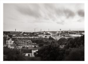 älvsborgsbron i Göteborg. Svartvit