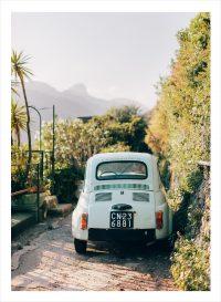 Fiat parkering på amalfikusten