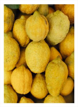 Citroner i hög ovanifrån