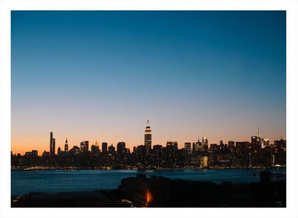 Manhattan från Brooklyn - Skyskrapa