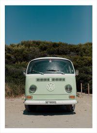 Volkswagen folkabuss som är grön