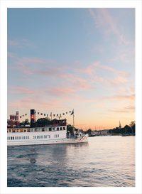 Stockholms skärgård med en pendelbåt