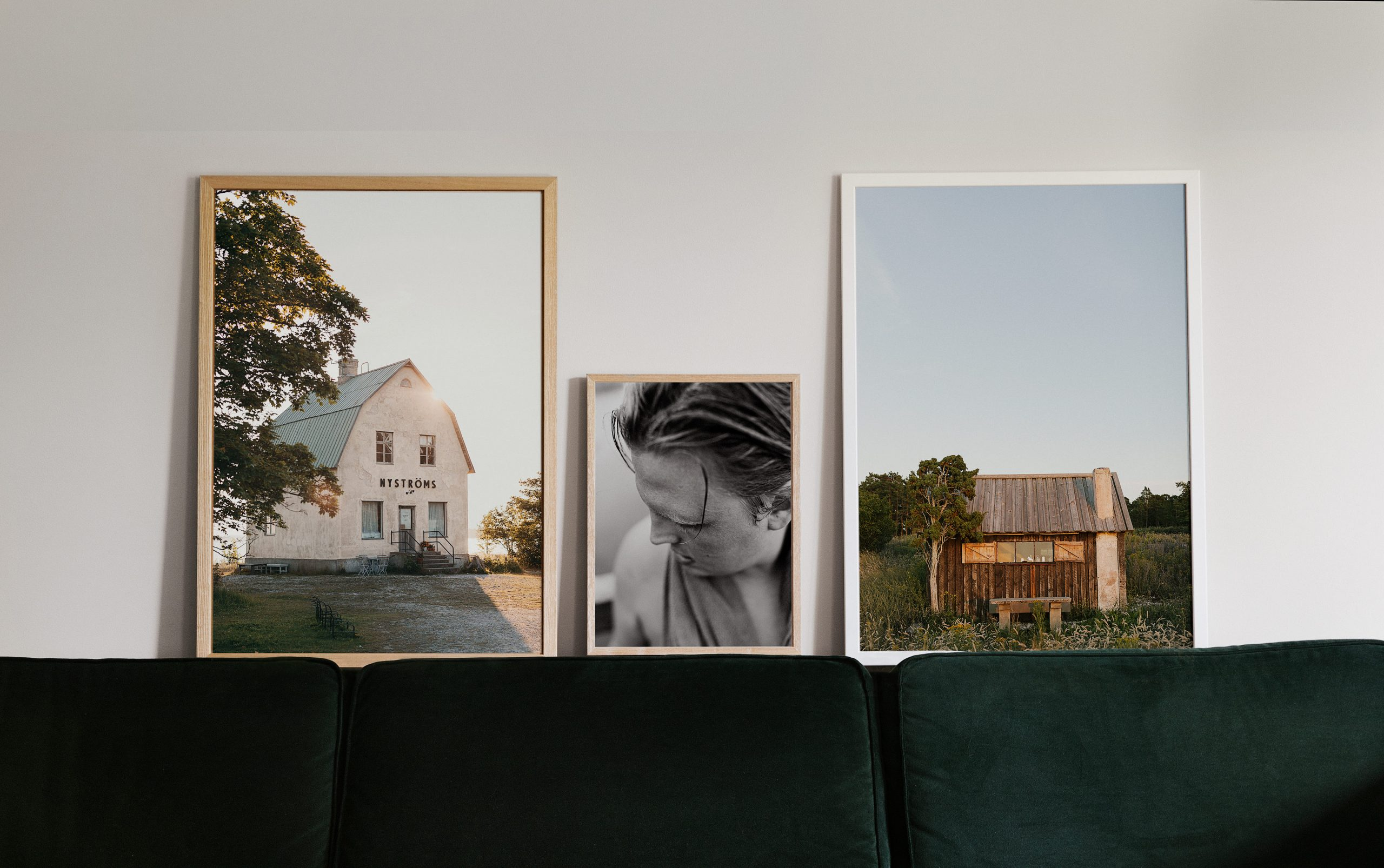 Bilder i soffa